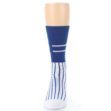 Image of Chicago Cubs Pinstripes Men's Athletic Crew Socks (front-05)