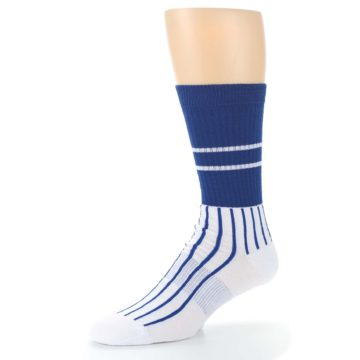 Image of Chicago Cubs Pinstripes Men's Athletic Crew Socks (side-2-09)