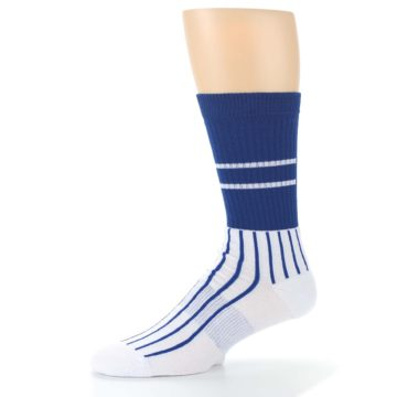 Image of Chicago Cubs Pinstripes Men's Athletic Crew Socks (side-2-10)