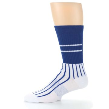 Image of Chicago Cubs Pinstripes Men's Athletic Crew Socks (side-2-11)