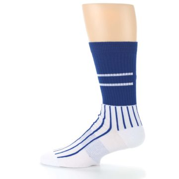 Image of Chicago Cubs Pinstripes Men's Athletic Crew Socks (side-2-12)