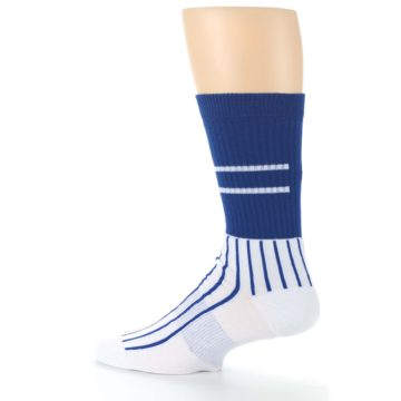 Image of Chicago Cubs Pinstripes Men's Athletic Crew Socks (side-2-13)