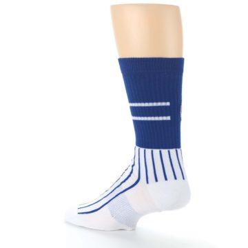Image of Chicago Cubs Pinstripes Men's Athletic Crew Socks (side-2-back-14)