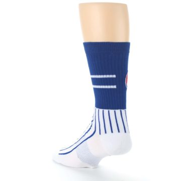 Image of Chicago Cubs Pinstripes Men's Athletic Crew Socks (side-2-back-15)