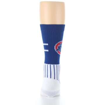 Image of Chicago Cubs Pinstripes Men's Athletic Crew Socks (back-18)