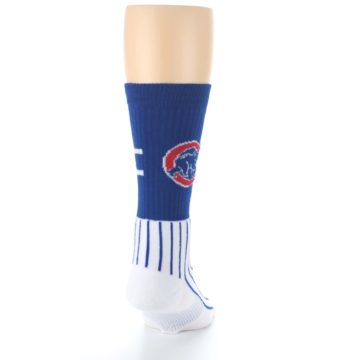 Image of Chicago Cubs Pinstripes Men's Athletic Crew Socks (back-19)