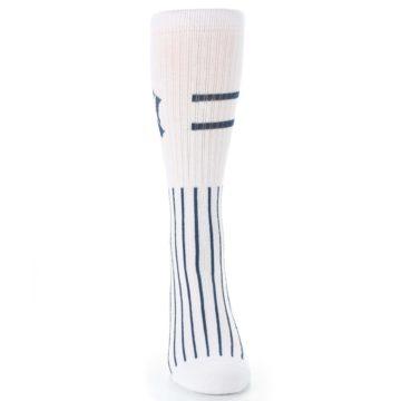 Image of New York Yankees Pinstripes Men's Athletic Crew Socks (front-04)