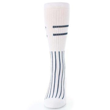 Image of New York Yankees Pinstripes Men's Athletic Crew Socks (front-05)