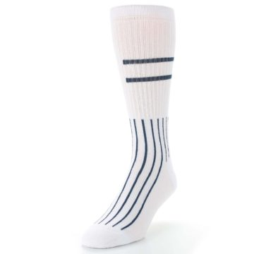 Image of New York Yankees Pinstripes Men's Athletic Crew Socks (side-2-front-07)