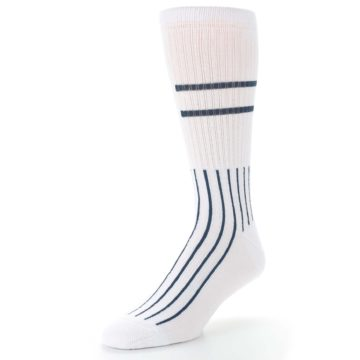 Image of New York Yankees Pinstripes Men's Athletic Crew Socks (side-2-front-08)