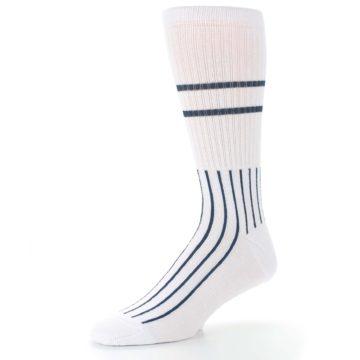 Image of New York Yankees Pinstripes Men's Athletic Crew Socks (side-2-09)