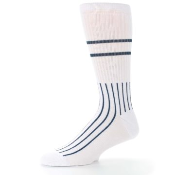 Image of New York Yankees Pinstripes Men's Athletic Crew Socks (side-2-10)