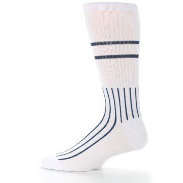 Image of New York Yankees Pinstripes Men's Athletic Crew Socks (side-2-12)