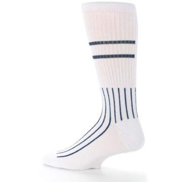 Image of New York Yankees Pinstripes Men's Athletic Crew Socks (side-2-13)