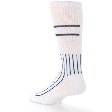 Image of New York Yankees Pinstripes Men's Athletic Crew Socks (side-2-back-14)
