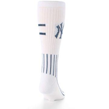 Image of New York Yankees Pinstripes Men's Athletic Crew Socks (back-19)