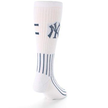 Image of New York Yankees Pinstripes Men's Athletic Crew Socks (side-1-back-20)