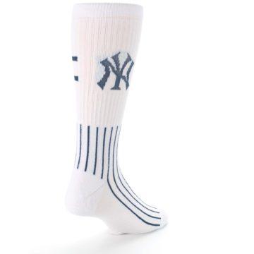 Image of New York Yankees Pinstripes Men's Athletic Crew Socks (side-1-back-21)