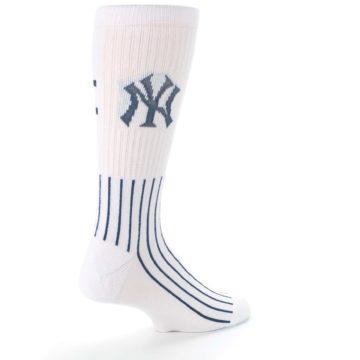 Image of New York Yankees Pinstripes Men's Athletic Crew Socks (side-1-back-22)