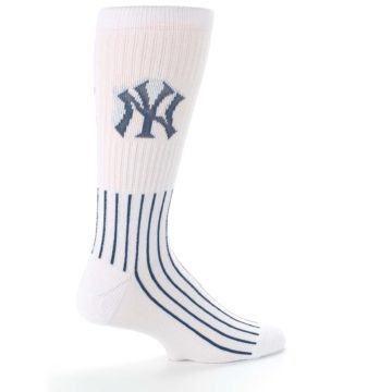 Image of New York Yankees Pinstripes Men's Athletic Crew Socks (side-1-23)