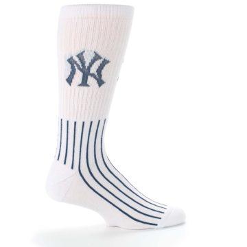 Image of New York Yankees Pinstripes Men's Athletic Crew Socks (side-1-24)