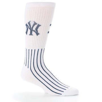 Image of New York Yankees Pinstripes Men's Athletic Crew Socks (side-1-25)