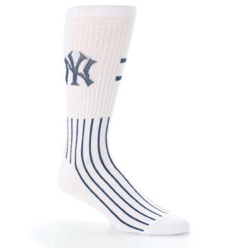 Image of New York Yankees Pinstripes Men's Athletic Crew Socks (side-1-26)