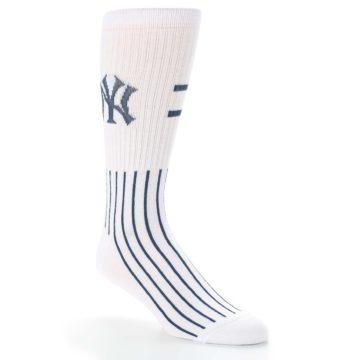 Image of New York Yankees Pinstripes Men's Athletic Crew Socks (side-1-27)
