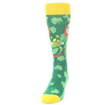 Image of Green Irish Leprechaun Men's Dress Socks (side-2-front-06)