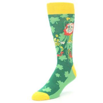 Image of Green Irish Leprechaun Men's Dress Socks (side-2-front-08)