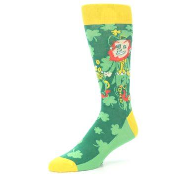 Image of Green Irish Leprechaun Men's Dress Socks (side-2-09)
