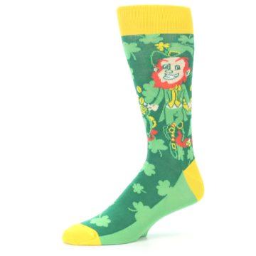 Image of Green Irish Leprechaun Men's Dress Socks (side-2-10)