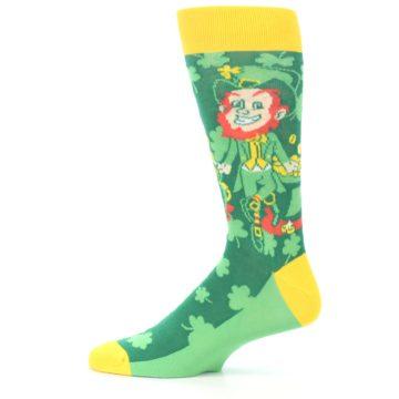 Image of Green Irish Leprechaun Men's Dress Socks (side-2-12)