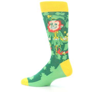 Image of Green Irish Leprechaun Men's Dress Socks (side-2-13)