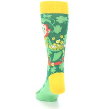 Image of Green Irish Leprechaun Men's Dress Socks (back-17)