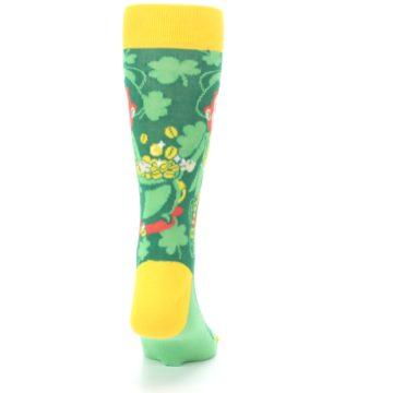 Image of Green Irish Leprechaun Men's Dress Socks (back-19)