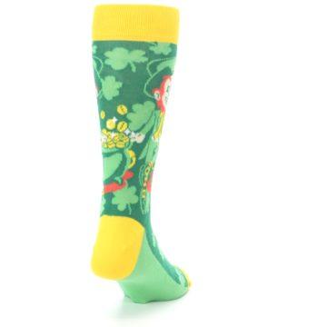Image of Green Irish Leprechaun Men's Dress Socks (side-1-back-20)