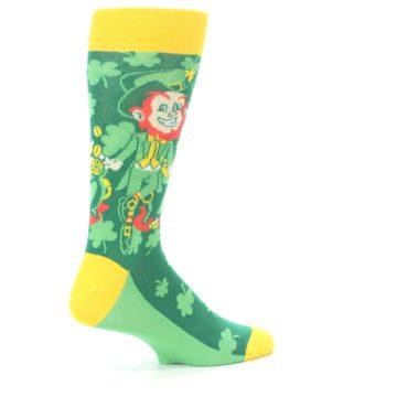 Image of Green Irish Leprechaun Men's Dress Socks (side-1-23)
