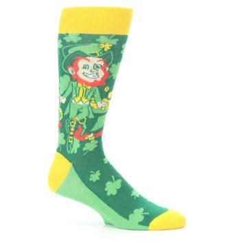 Image of Green Irish Leprechaun Men's Dress Socks (side-1-25)