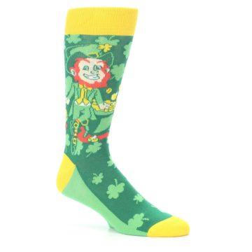 Image of Green Irish Leprechaun Men's Dress Socks (side-1-26)