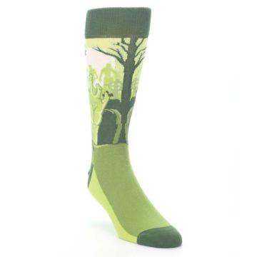 Image of Green Zombie Graveyard Men's Dress Socks (side-1-front-02)