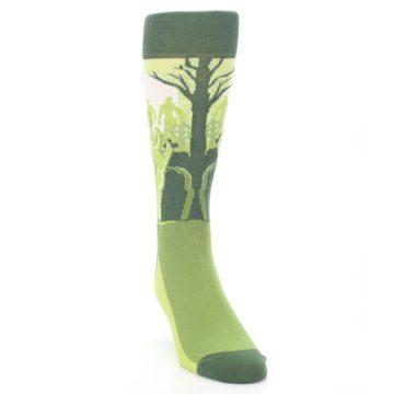 Image of Green Zombie Graveyard Men's Dress Socks (side-1-front-03)