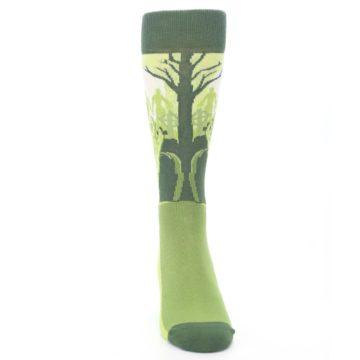 Image of Green Zombie Graveyard Men's Dress Socks (front-04)