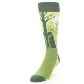 Image of Green Zombie Graveyard Men's Dress Socks (side-2-front-07)