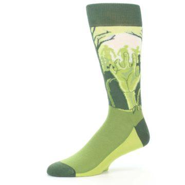 Image of Green Zombie Graveyard Men's Dress Socks (side-2-10)