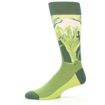 Image of Green Zombie Graveyard Men's Dress Socks (side-2-11)