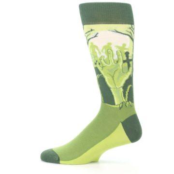 Image of Green Zombie Graveyard Men's Dress Socks (side-2-12)