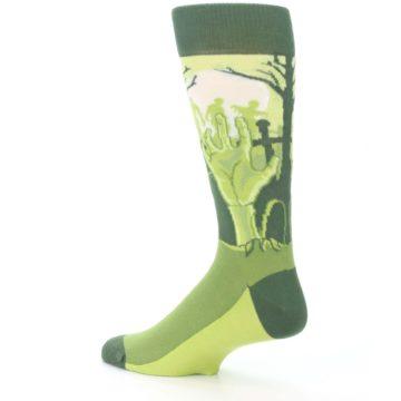 Image of Green Zombie Graveyard Men's Dress Socks (side-2-back-14)