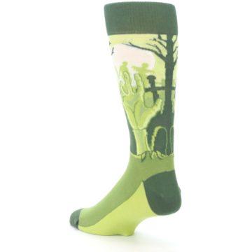Image of Green Zombie Graveyard Men's Dress Socks (side-2-back-15)
