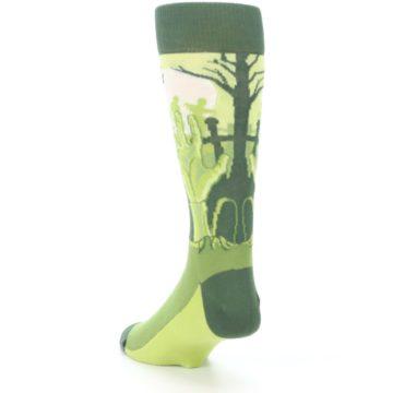 Image of Green Zombie Graveyard Men's Dress Socks (side-2-back-16)